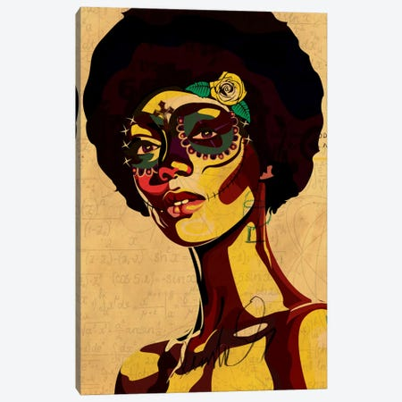 Dia de los Muertos Canvas Print #DCA8} by Dai Chris Art Canvas Wall Art