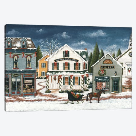 Christmas Village I Dark Canvas Print #DCB2} by David Carter Brown Canvas Print