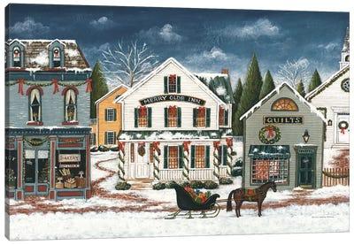 Christmas Village I Dark Canvas Art Print