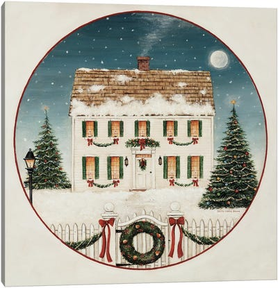 Merry Lil House Canvas Art Print