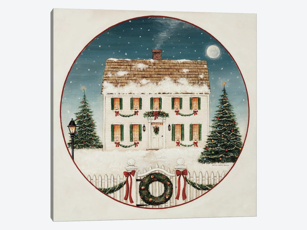 Merry Lil House by David Carter Brown 1-piece Canvas Wall Art