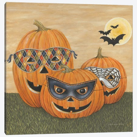 Funny Pumpkins Canvas Print #DCB5} by David Carter Brown Canvas Art