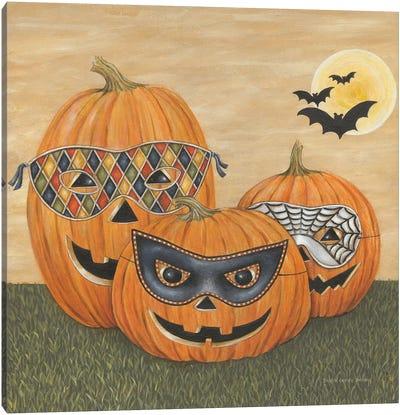 Funny Pumpkins Canvas Art Print