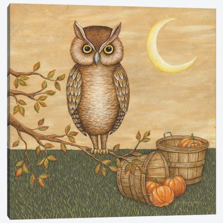 Halloween Owl Canvas Print #DCB6} by David Carter Brown Canvas Art