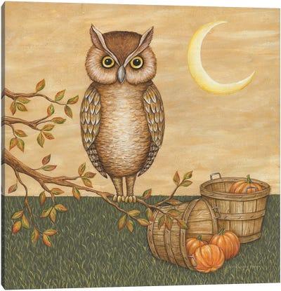 Halloween Owl Canvas Art Print