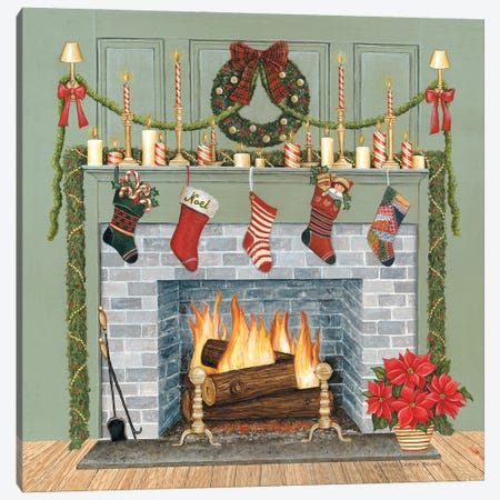 Home for the Holidays I Gray Canvas Print #DCB8} by David Carter Brown Canvas Art Print