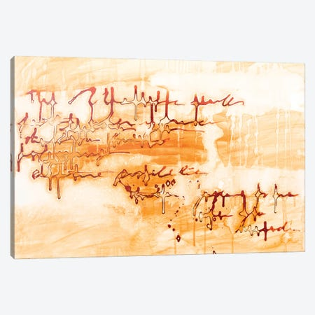 The Writing Is In The Air - Sienna Canvas Print #DCH130} by Deb Chaney Canvas Artwork