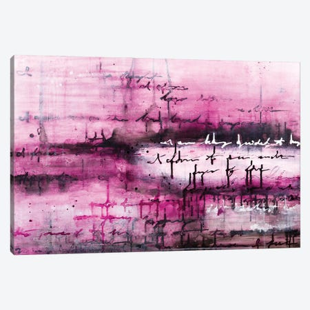 The Writing Is In The Air - Magenta Canvas Print #DCH131} by Deb Chaney Canvas Wall Art