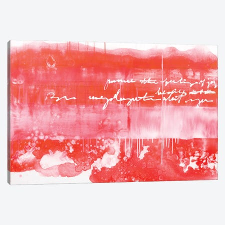 The Writing Is In The Air - Red Canvas Print #DCH132} by Deb Chaney Canvas Wall Art