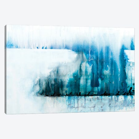 The Writing Is In The Air - Turquoise Canvas Print #DCH134} by Deb Chaney Art Print