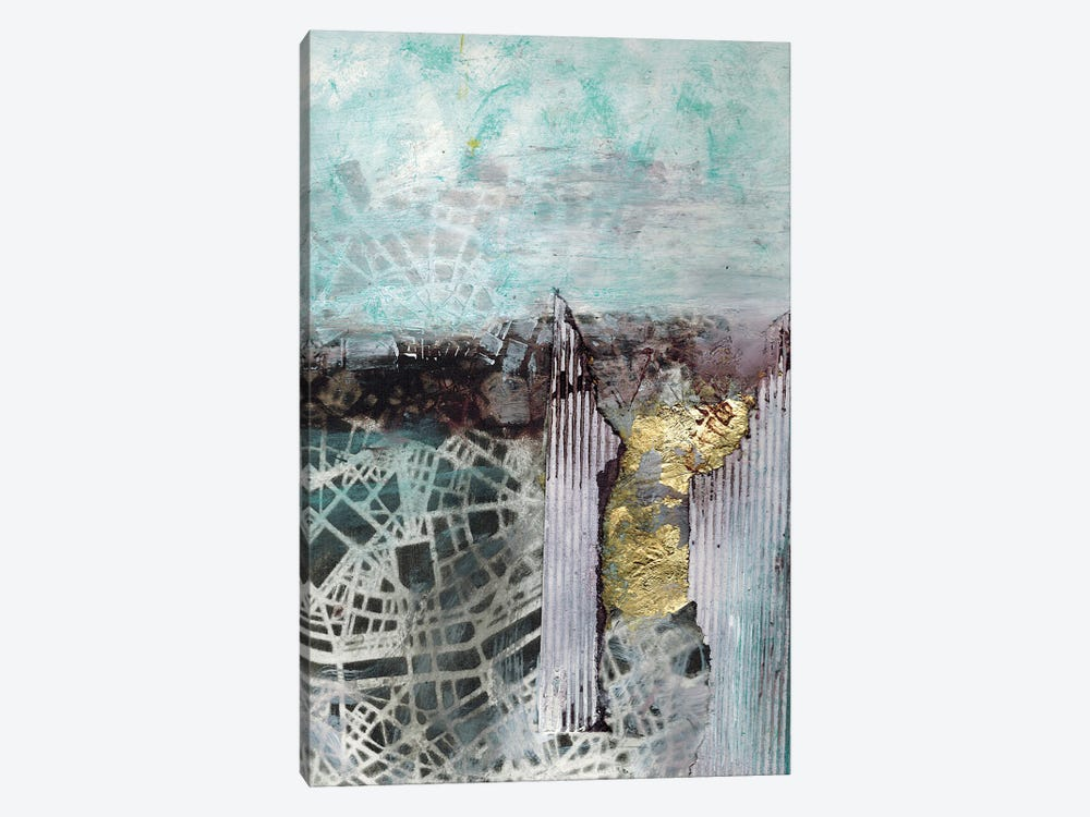 Digging Down Into The City by Deb Chaney 1-piece Canvas Art