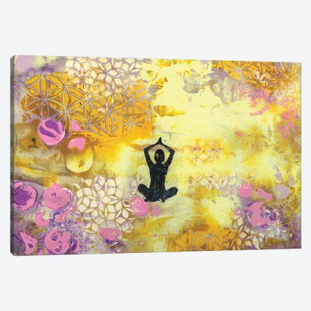 I Remember To Meditate 3-Piece Canvas #DCH30} by Deb Chaney Canvas Art