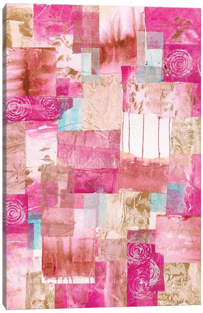 Patchwork Paper Canvas Art Print