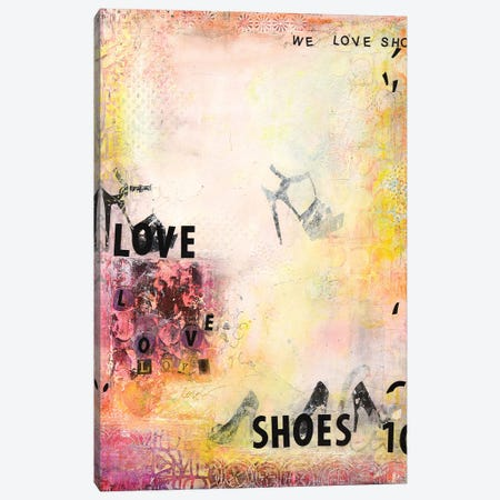 We Love Shoes II Canvas Print #DCH72} by Deb Chaney Canvas Artwork