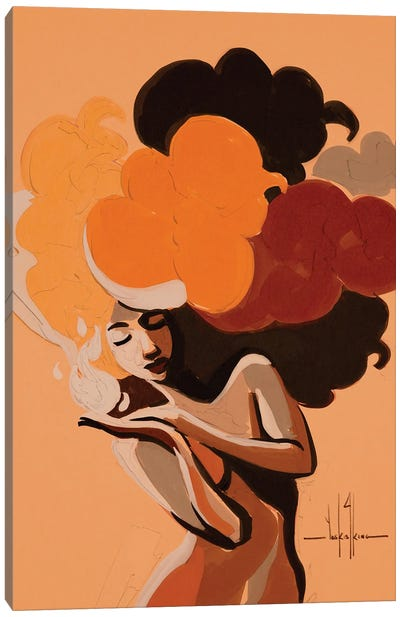 Find Your Flame Canvas Art Print