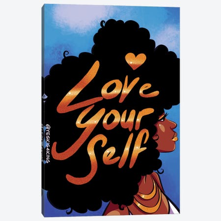 Love Yourself Canvas Print #DCJ28} by David Coleman Jr. Canvas Art Print