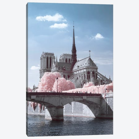 Notre Dame Infrared Canvas Print #DCL103} by David Clapp Canvas Artwork