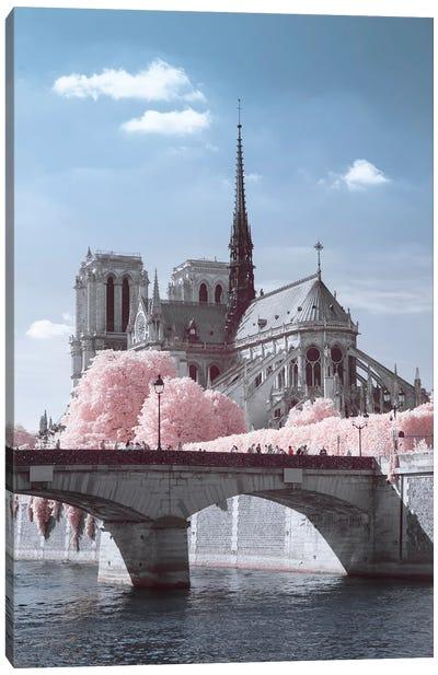 Notre Dame Infrared Canvas Art Print