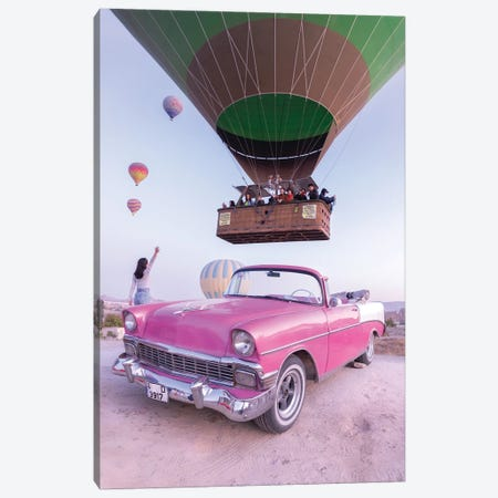 Classic Car Cappadocia Canvas Print #DCL114} by David Clapp Canvas Art
