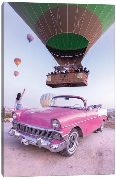 Classic Car Cappadocia Canvas Art Print