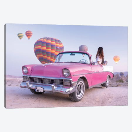 Classic Car Cappadocia II Canvas Print #DCL115} by David Clapp Canvas Wall Art