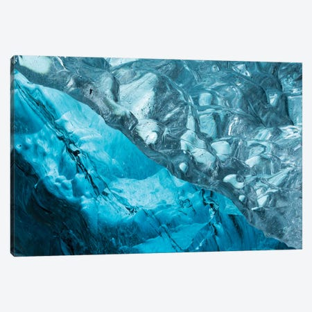 Iceland Ice Cave II 3-Piece Canvas #DCL23} by David Clapp Canvas Print