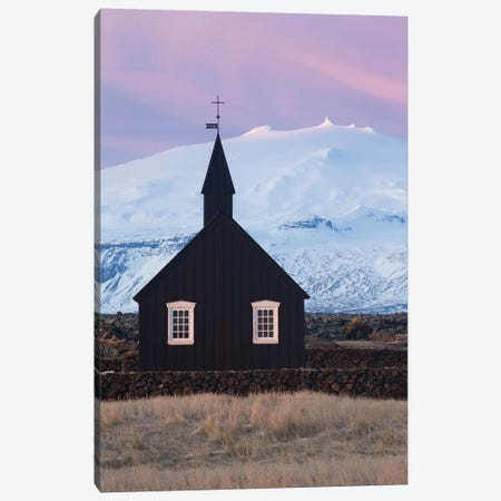Iceland Snaefellsnes Budir Church VI Canvas Print #DCL27} by David Clapp Canvas Wall Art