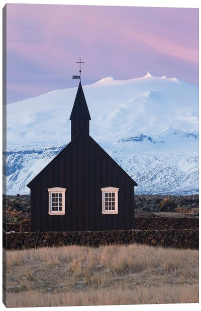Iceland Snaefellsnes Budir Church VI Canvas Art Print