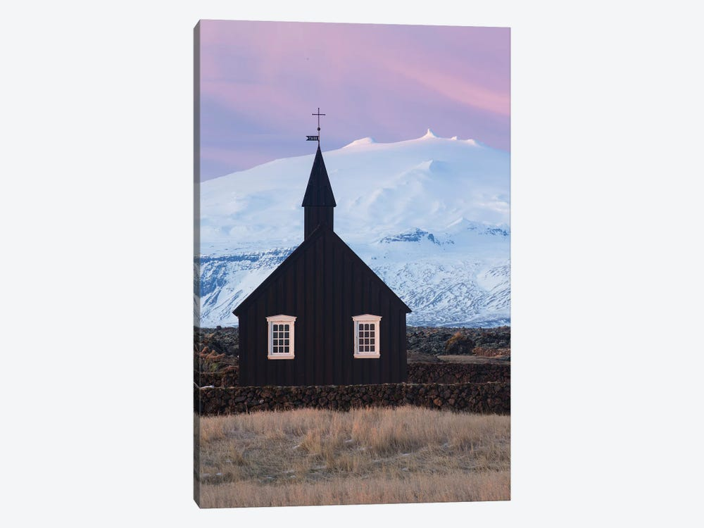 Iceland Snaefellsnes Budir Church VI by David Clapp Photography Limited 1-piece Canvas Artwork
