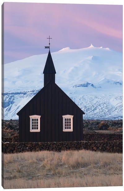 Iceland Snaefellsnes Budir Church VI Canvas Art Print