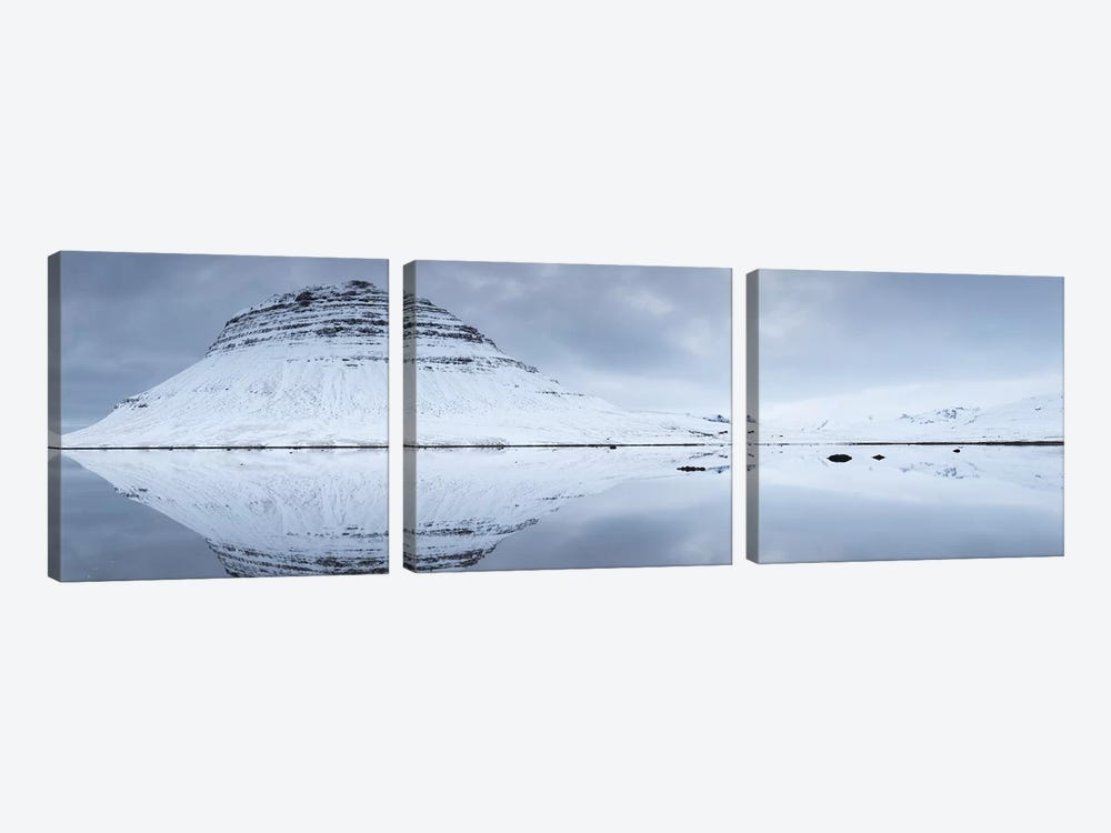Iceland Snaefellsnes Kirkjufell XXV by David Clapp Photography Limited 3-piece Canvas Print