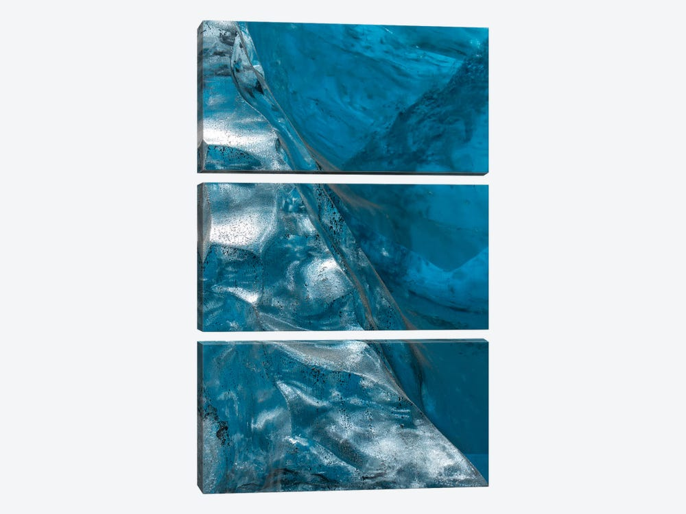 Iceland Vatnajökull Caves VIII by David Clapp Photography Limited 3-piece Canvas Print