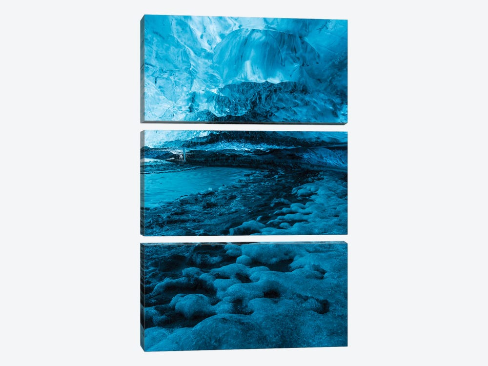 Iceland Vatnajökull Caves X by David Clapp Photography Limited 3-piece Canvas Wall Art