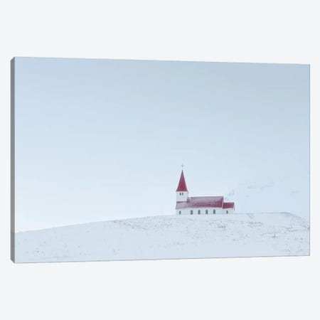 Iceland Vik Church XIV Canvas Print #DCL35} by David Clapp Photography Limited Art Print