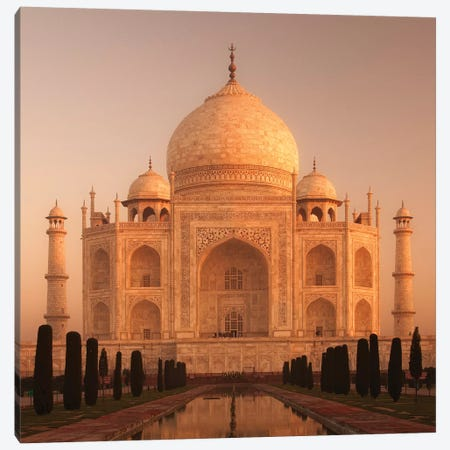 India Agra Taj Mahal I Canvas Print #DCL36} by David Clapp Art Print