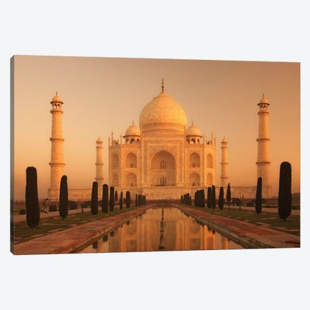 India Agra Taj Mahal III Canvas Print #DCL37} by David Clapp Photography Limited Canvas Print