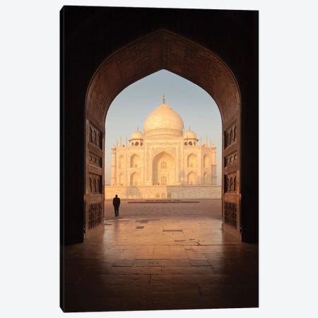 India Agra Taj Mahal V Canvas Print #DCL38} by David Clapp Photography Limited Canvas Art
