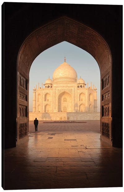 India Agra Taj Mahal V Canvas Art Print