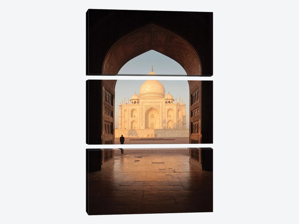 India Agra Taj Mahal V by David Clapp Photography Limited 3-piece Canvas Wall Art