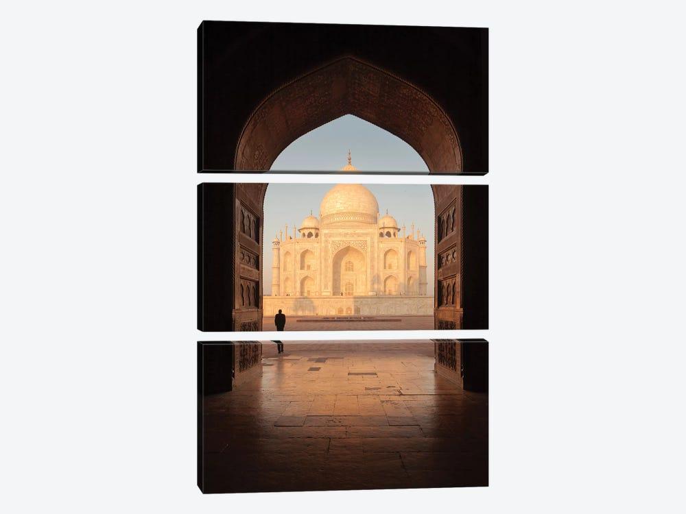 India Agra Taj Mahal V by David Clapp 3-piece Canvas Wall Art