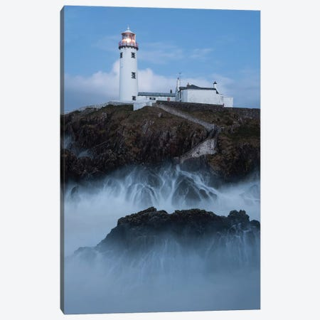Ireland Lighthouse Fanad XI 3-Piece Canvas #DCL44} by David Clapp Canvas Artwork