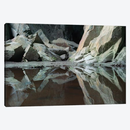 Lake Quarry Cathedral XXI 3-Piece Canvas #DCL45} by David Clapp Canvas Artwork