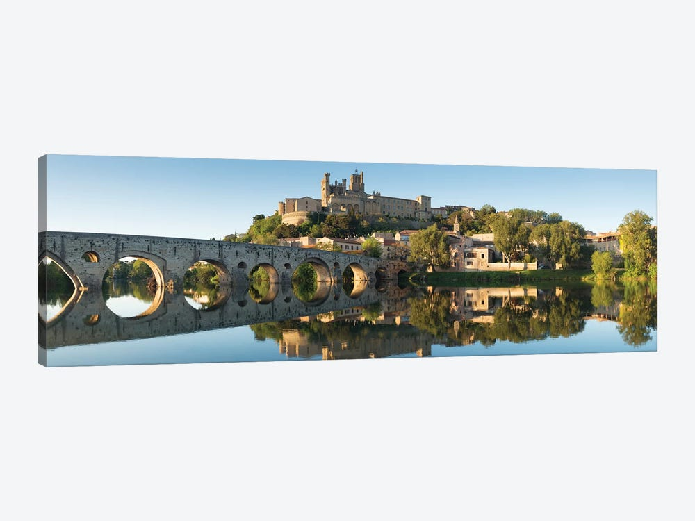 Languedoc Béziers Cathedral XV by David Clapp 1-piece Canvas Artwork
