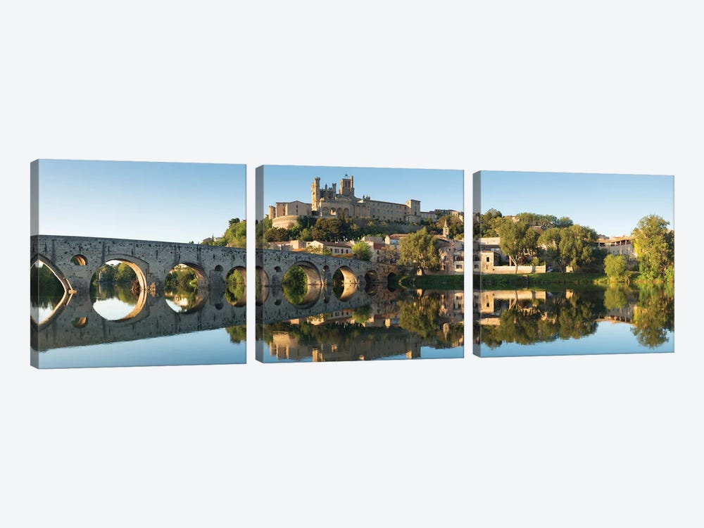 Languedoc Béziers Cathedral XV by David Clapp 3-piece Canvas Wall Art