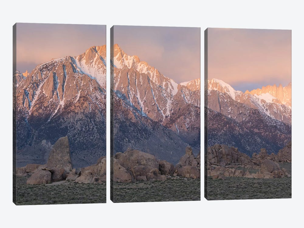 Lone Pine Alabama Hills III by David Clapp 3-piece Canvas Art