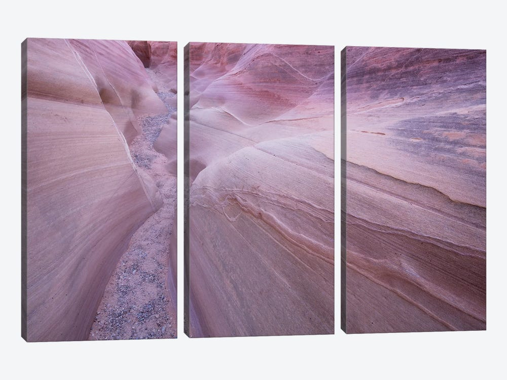 Nevada Valley Of Fire VII by David Clapp Photography Limited 3-piece Canvas Print
