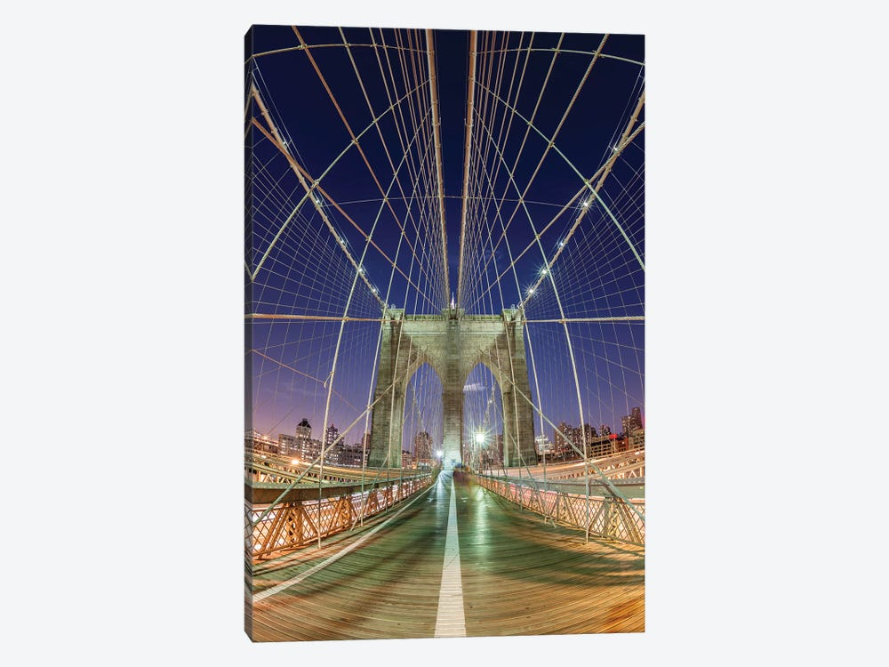 New York Brooklyn Bridge VII by David Clapp Photography Limited 1-piece Canvas Wall Art