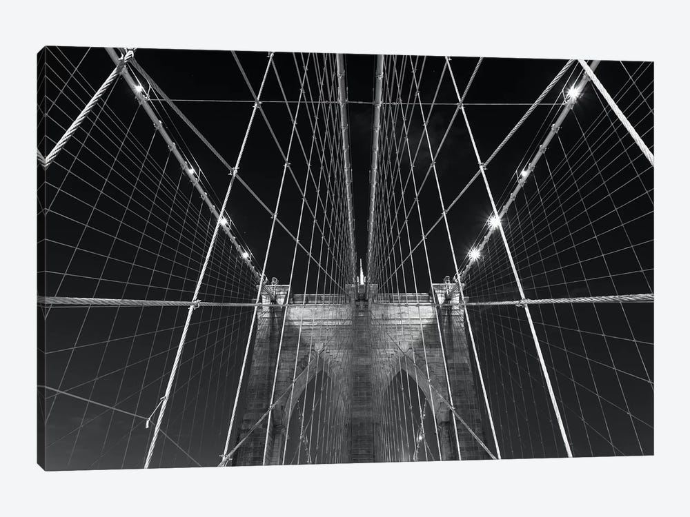 New York Brooklyn Bridge XII by David Clapp Photography Limited 1-piece Canvas Art Print