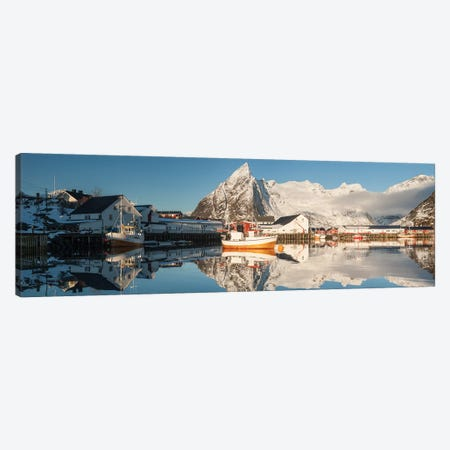 Norway Lofoten Hamnøy IV 3-Piece Canvas #DCL68} by David Clapp Canvas Print