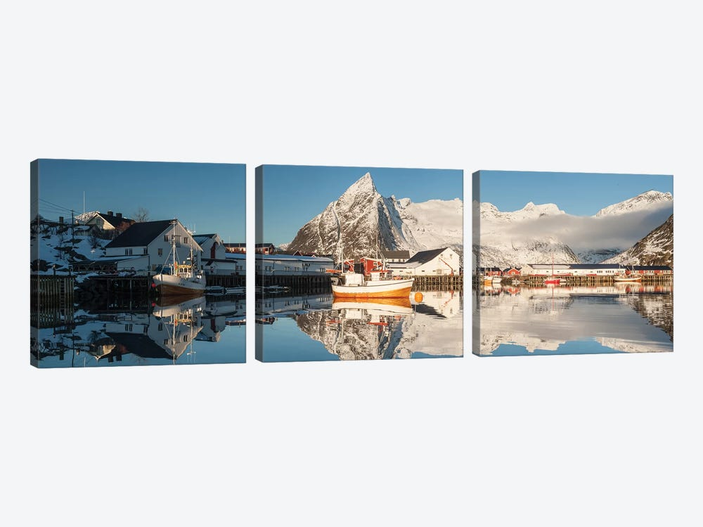 Norway Lofoten Hamnøy IV by David Clapp 3-piece Canvas Print
